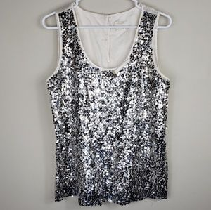 Kate Spade | 100% Silk Sequin Sleeveless Blouse